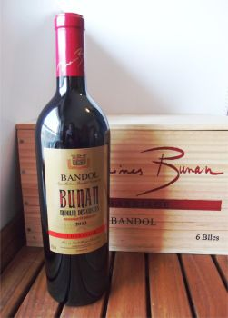 Domaines Bunan: 6 Flaschen Moulin des Costes Bandol Rouge Charriage 2016 in original Holzkiste